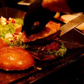 Burger Catering Zubereitung